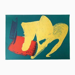 Lithographie Druck von Gérard Schneider, 1983