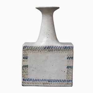 Vase Vintage en Céramique avec Design Géométrique par Bruno Gambone