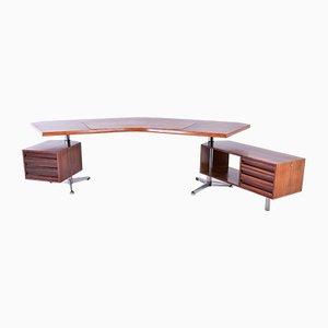Vintage Boomerang Rosewood Desk by Osvaldo Borsani for Tecno