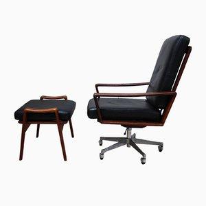 Swivel Chair & Ottoman by Arne Wahl Iversen for Komfort, 1960s