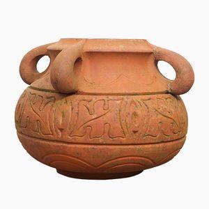 Vintage Terracotta Pot by Archibald Knox