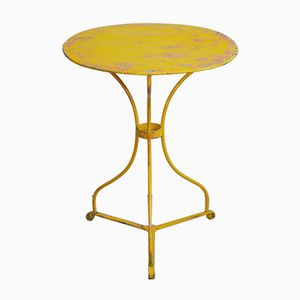 Antique Yellow Bistro Table
