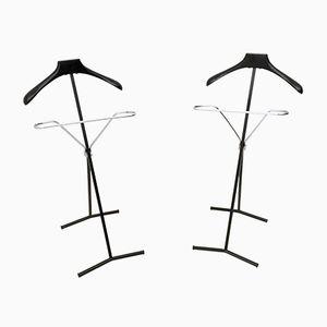 Kleiderständer aus Ebonisierter Buche & Metall, 1950er, 2er Set