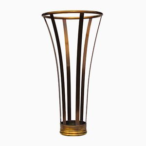 Trumpet-Shaped Umbrella Stand in Brass, 1970s