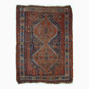 Antique Handmade Persian Shiraz Rug, 1910s