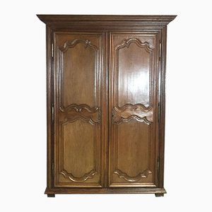 18th-Century Louis XIV Style Wardrobe in Oak