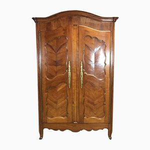 19th-Century Louis XV Style Wardrobe in Cherry