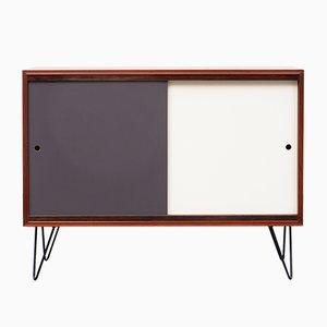 Teak Veneered Sideboard with Reversible Colored Doors, 1960s