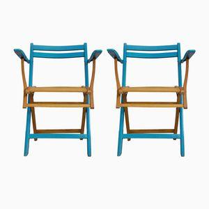 Art Nouveau Winter Garden Folding Chairs, 1910s, Set of 2