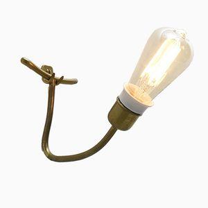 Messing Tischlampe, 1950er