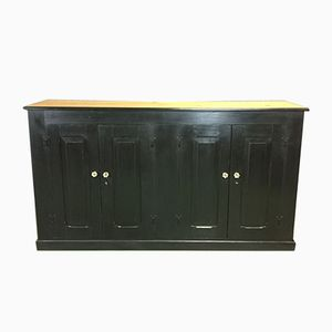 Antique Sideboard in Fir and Black Patina