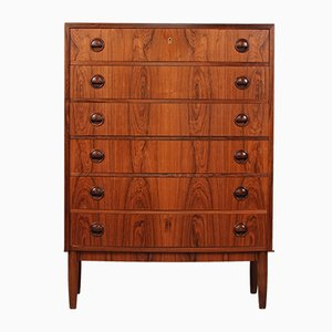 Large Mid-Century Danish Rosewood Dresser with Drawers by Kai Kristiansen