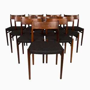 Rosewood Dining Chairs by Arne Vodder for Sibast, 1960s, Set of 10