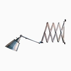 Vintage Scissor Wall Light by Curt Fischer for Midgard/Industriewerke Auma
