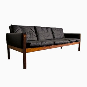Leather Sofa by Hans Wegner for A.P. Stolen, 1960s