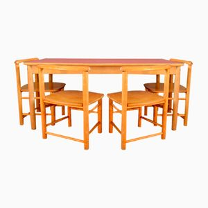 Tavolo per bambini con sedie, anni '60, set di 5
