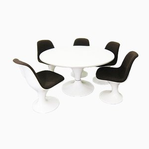 Dining Room Set with Table & 5 Orbit Chairs by Markus Farner & Walter Grunder for Vitra