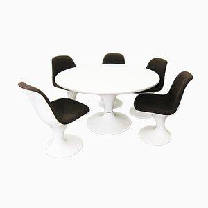 Esszimmer Set mit 5 Orbit Stühlen von Markus Farner & Walter Grunder für Vitra
