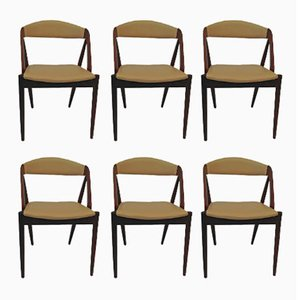 Model 31 Teak Dining Chairs by Kai Kristiansen for Schou Andersen, 1950s, Set of 6
