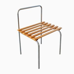 Les Arcs Luggage Rack in Tubular Steel by Charlotte Perriand, 1960s