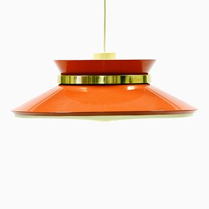 Dark Orange Pendant Light by Carl Thore for Granhaga Metallindustri AB, 1970s