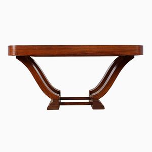 French Art Deco Dining Table in Rosewood, 1920s