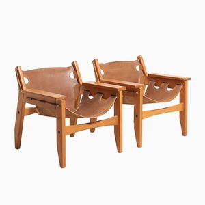Kilin Easy Chairs by Sergio Rodrigues for OCA Furniture, 1970s, Set of 2