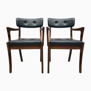 Mid-Century Teak Carver Chairs, Set of 2