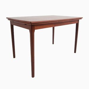Danish Modern Teak Veneered Extendable Dining Table