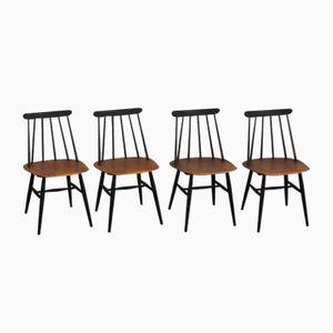 Fanett Dining Chairs by Ilmari Tapiovaara for Edsby Verken, 1957, Set of 4