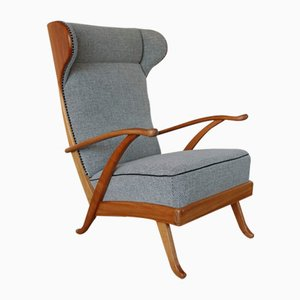 italienischer sessel mit hoher r ckenlehne 1962 bei pamono kaufen. Black Bedroom Furniture Sets. Home Design Ideas
