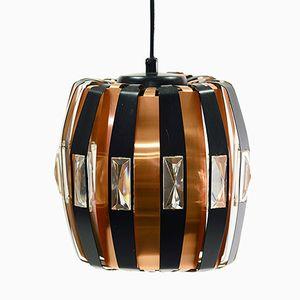 Lampe à Suspension P25 en Cuivre par Verner Schou pour Coronell Elektro, 1960s