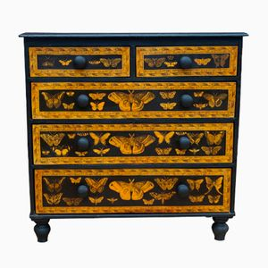 Victorian Chest with Butterfly Decor, 1880s