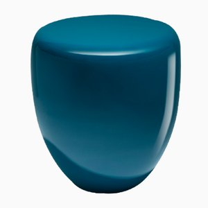 Dot Side Table or Stool in Peacock Blue by Reda Amalou