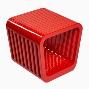 Link Stool or Coffee Table in Iconic Red by Reda Amalou