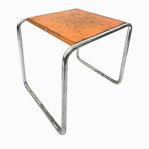 Vintage Bauhaus Orange B9 Table from Marcel Breuer for Thonet, 1930s
