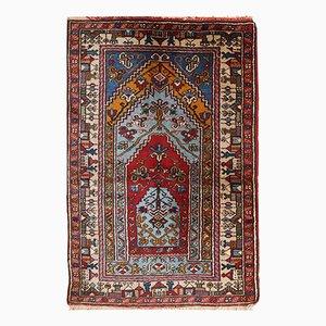 Vintage Handmade Turkish Konya Prayer Rug, 1950s
