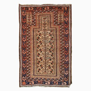 Antique Handmade Afghan Baluch Prayer Rug, 1900s
