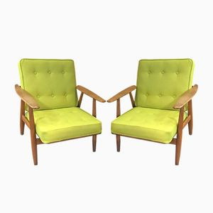 GE 240 or Cigar Armchairs by Hans J. Wegner for Getama, 1960s, Set of 2