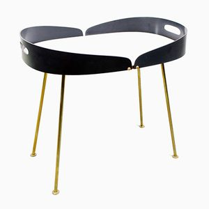 Vintage Side Table with Brass, Bentwood & Laminate, 1960s