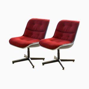 Vintage Stühle von Charles Pollock für Knoll, 2er Set