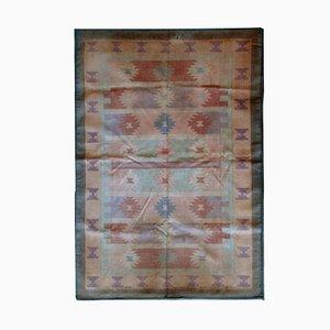 Vintage Handmade Indian Dhurrie Kilim, 1950s