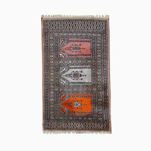 Vintage Handmade Prayer Uzbek Bukhara Rug, 1970s