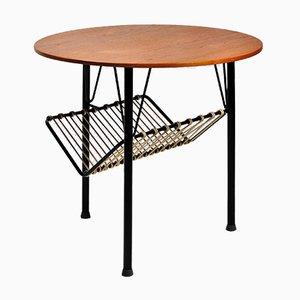 Tavolino in teak e melatto nero, Danimarca, anni '50