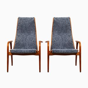 Lamino Lounge Chairs by Yngve Ekström for Swedese, 1950s, Set of 2