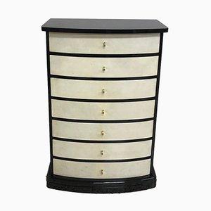 Art Deco Style Parchment Dresser, 1960s