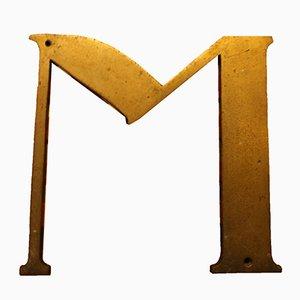 Señal de la letra M española antigua