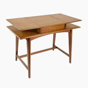 Mid-Century French Flip Top Desk, 1950s