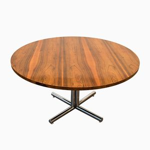 Round Rosewood Table, 1970s