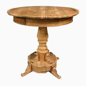 19th-Century Round Walnut Table